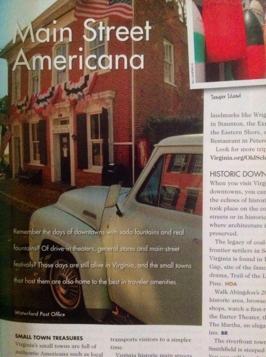 Virginia devotes editorial coverage to towns with historic main streets.