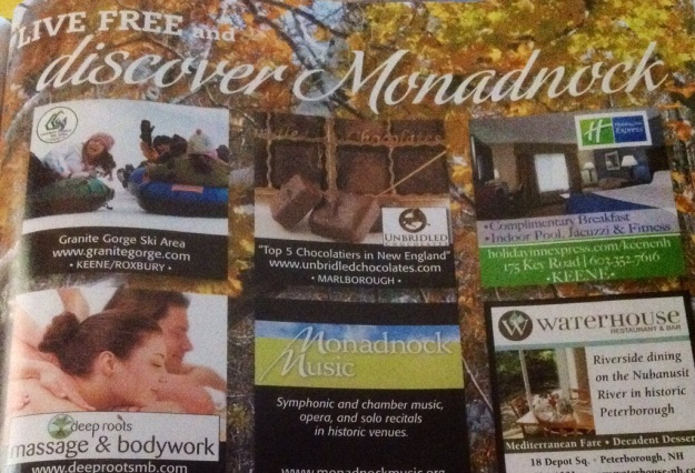 "Discover Monadnock in New Hampshire invites you, along with many destinations, to ""discover"" it."