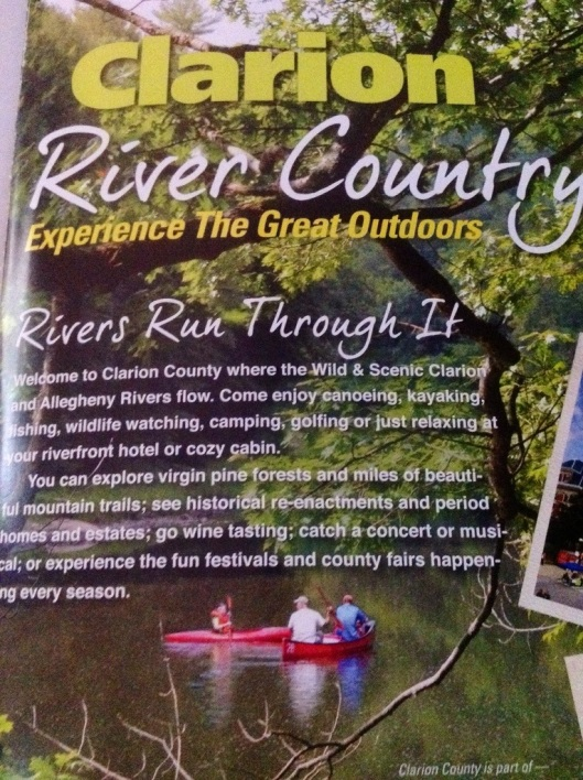 "This ad for Clarion, Pennsylvania not only is about experiencing the destination but it is focused on the outdoors and the destination being known as ""River Country."""