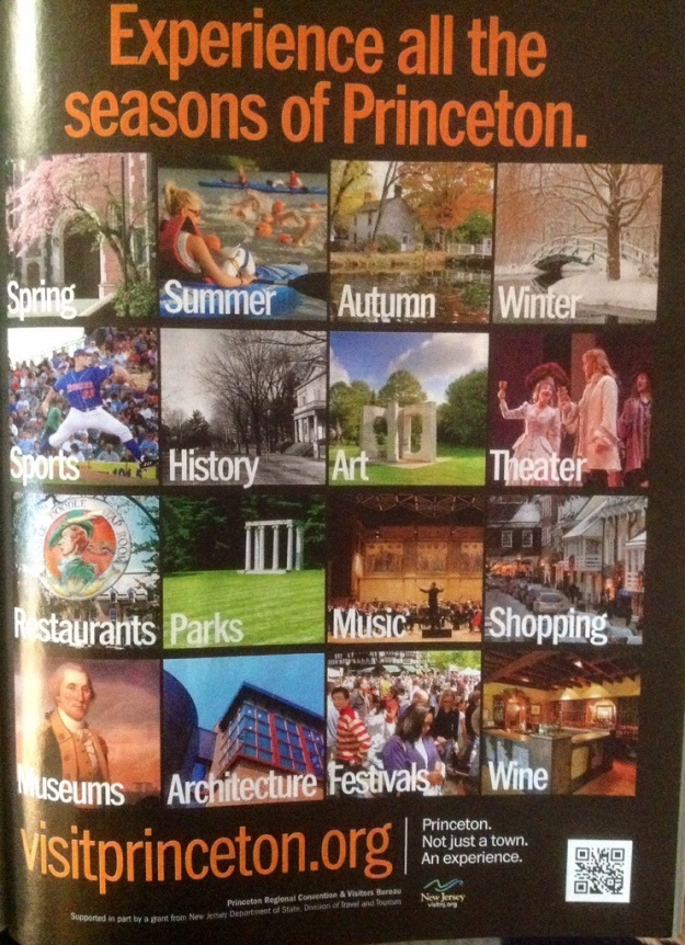 A very well done ad for Princeton, New Jersey makes it clear the destination is not just a single season destination.