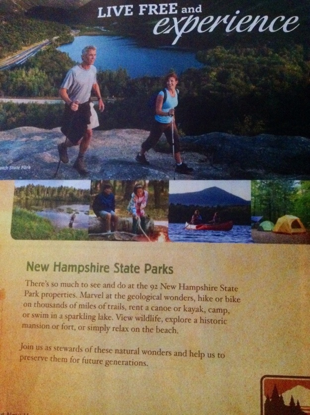 "Many destinations want you to ""experience"" them.  This one for New Hampshire invites you in for just such an experience."