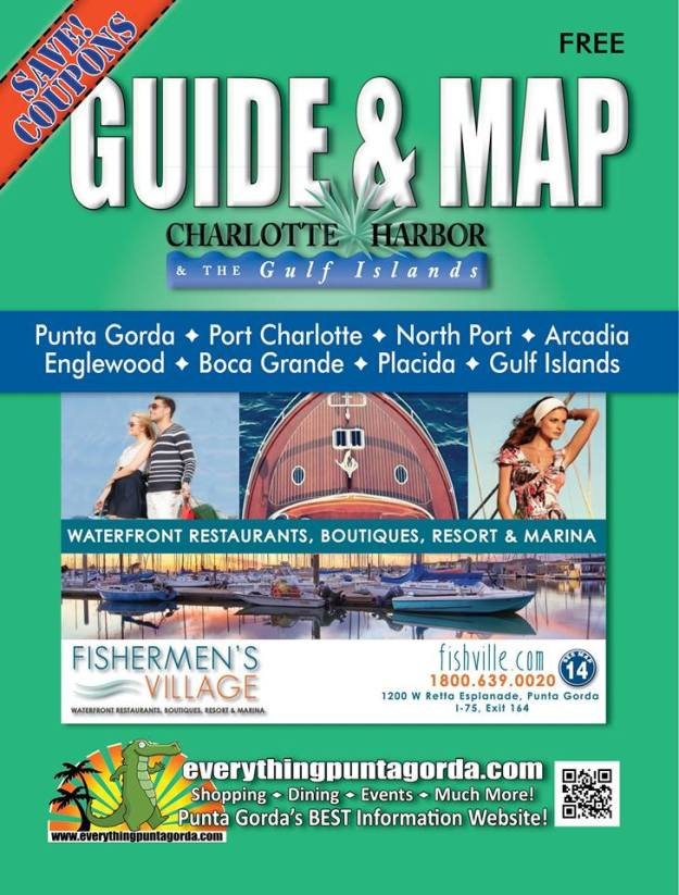Charlotte Harbor in Florida has a guide and map that is distributed just about everywhere in that area.