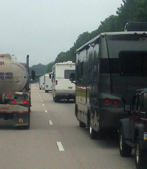 RVs were heavy on the I-95 between the Northeast and Florida.   My preference is to avoid the interstate system as much as possible while exploring the great backroads and destinations of the country.