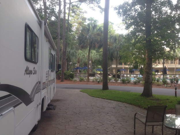 Camping can be just about anything from resort living such as this RV resort on Hilton Head Island to roughing in at one of the many great state parks.